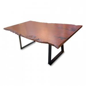 Naturally Timber 'Atlantic' single-slab dining table - River Red Gum