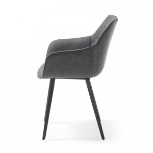 Lacy dining chair in Charcoal