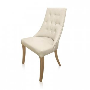 Potter's Barn dining chair - ivory