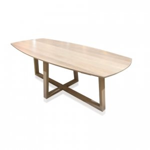 Naturally Timber 'Talin' dining table - Whitewash-stained Tasmanian Oak