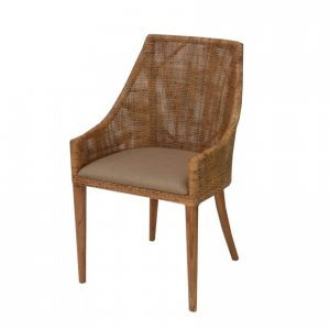 Naturally Timber 'Tennessee' dining chair - potato lattice with natural legs