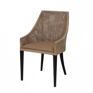 Naturally Timber 'Tennessee' dining chair - smoke lattice with grey wash legs