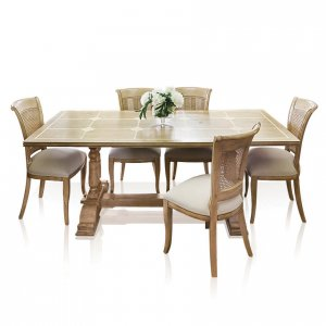 Windrush baluster dining table & Beidermeier dining chairs