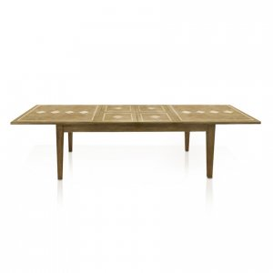 Windrush double-extension dining table - fully extended