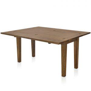 Mango Creek flip-top large extension table - open