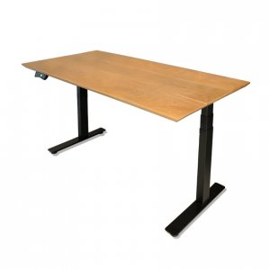 Zylem height-adjustable desk in American Oak