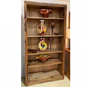 Contempo open-front bookcase in Western Australian Marri