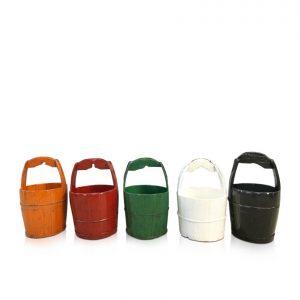 Oriental decorative buckets