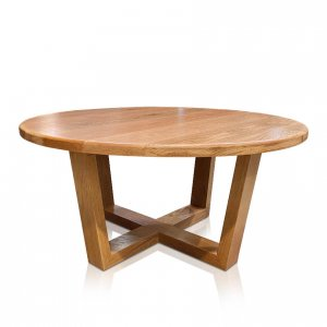 Atlanta round coffee table in American Oak