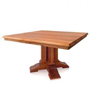 Barcelona square dining table in Tasmanian Blackwood