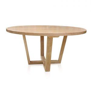 Atlanta round dining table in American White Oak