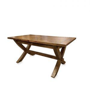 Mango Creek cross-leg single-extension dining table - closed