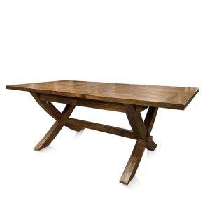 Mango Creek cross-leg single-extension dining table - extended